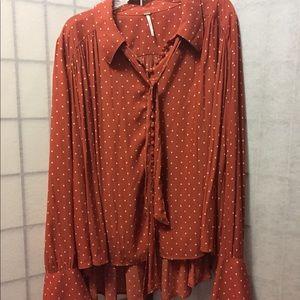 NWT Free People long sleeve blouse